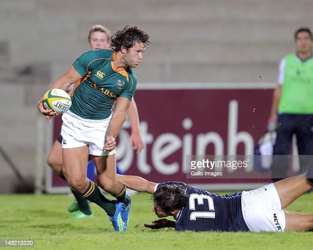 U/20 centre Jan Serfontein during the U20 International match South Africa and Argentina from Danie Craven Stadium on April 21 2012 in Stellenbosch...