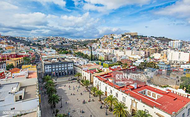 centre of las palmas de gran canaria - las palmas de gran canaria stock pictures, royalty-free photos & images