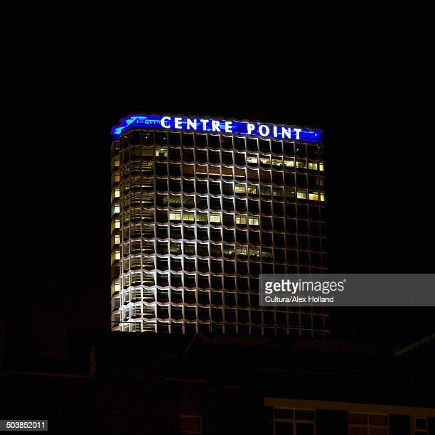 centre point at night - centre point stock photos and pictures