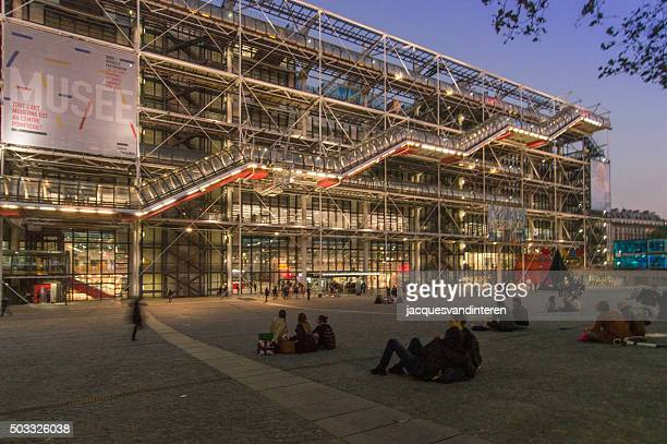 centre pompidou (beauborg), paris, france - centre georges pompidou stock pictures, royalty-free photos & images