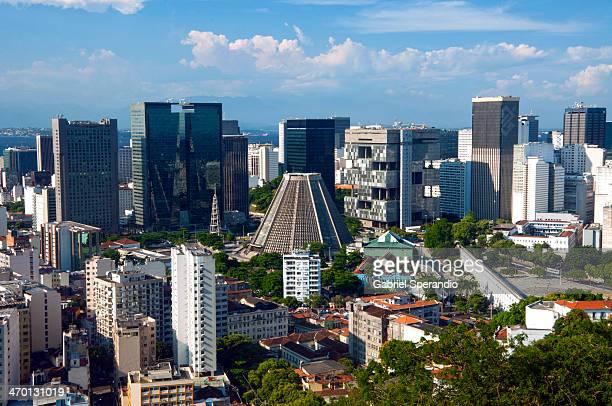 centro do rio de janeiro / downtown rio - guatemala city stock pictures, royalty-free photos & images