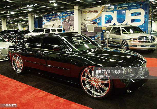 50 Cent's 2006 DUB Dodge Charger during The 2006 Orange County Auto Show at Anaheim Convention Center in Anaheim California United States