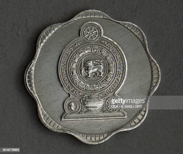 10 cents coin obverse Sri Lanka 20th century