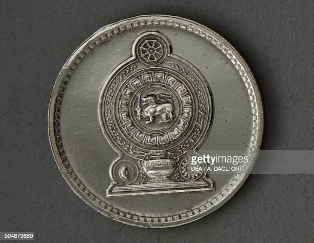 50 cents coin obverse Sri Lanka 20th century