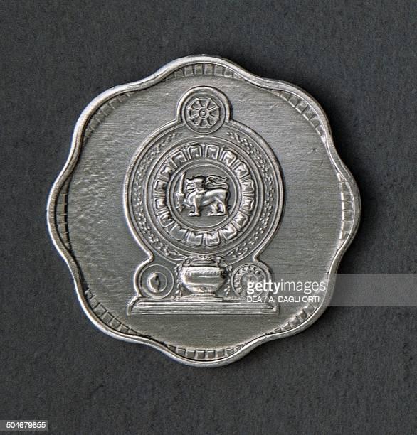 2 cents coin reverse Sri Lanka 20th century
