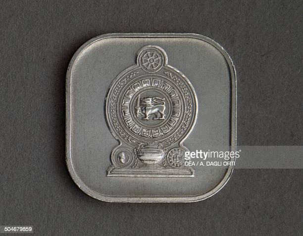 5 cents coin reverse Sri Lanka 20th century