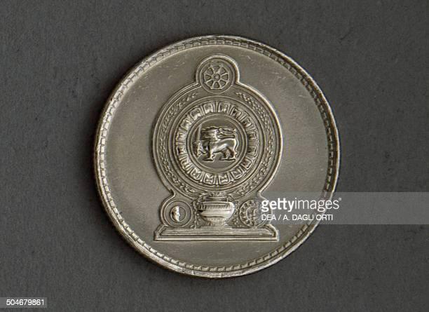 25 cents coin reverse Sri Lanka 20th century