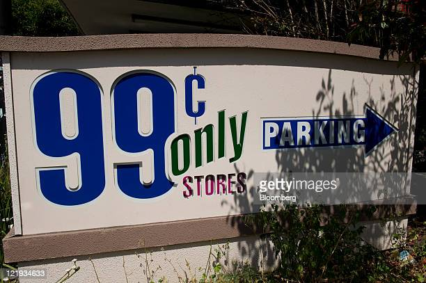 99 Cents Only Stores signage is displayed at a store in Berkeley California US on Monday Aug 22 2011 Apollo Global Management LLC will make an offer...