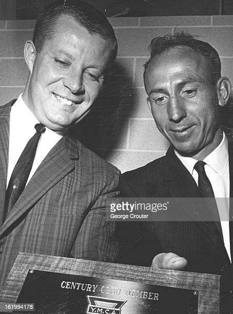 NOV 11 1964 FEB 25 1966 FEB 26 1966 Century Club Started A Plaque is presented to Ben Knaub of 3135 S Newton St as the first Century Club member at...
