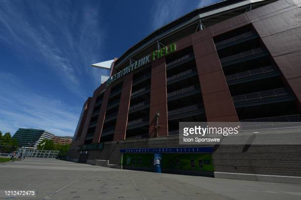 Century Link Field sits idle of any sporting events during the stay at home order by Washington State Governor Jay Inslee during the Coronavirus...
