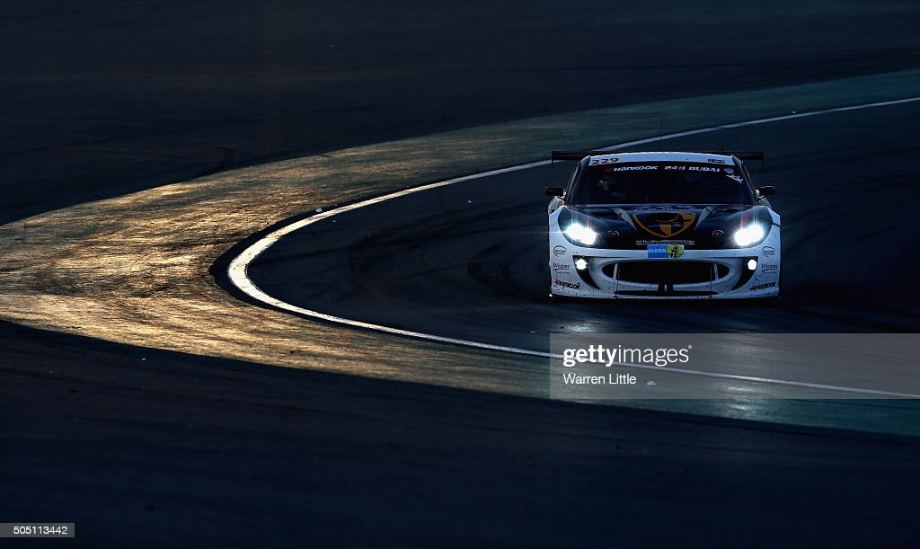 Century Motorsport, Ginetta G55 GT4 races during the Hankook 24 Hours Dubai Race in the International Endurance Series at Dubai Autodrome on January 15, 2015 in Dubai, United Arab Emirates.