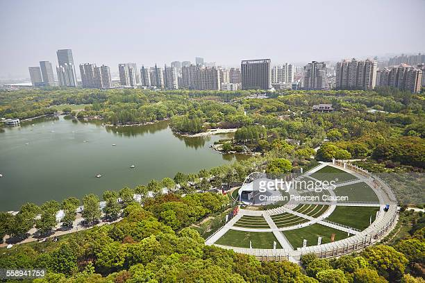 century park in shanghai pudong - pudong stock pictures, royalty-free photos & images