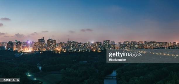 century park(shanghai) - urban sprawl stock pictures, royalty-free photos & images