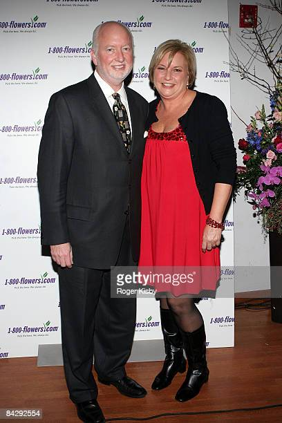 Ceo for 1800Flowers Jim McCann and Floral lifestyle expert Julie Mulligan attend An Evening of Romance Rhythm presented by 1800Flowers at Gibson...