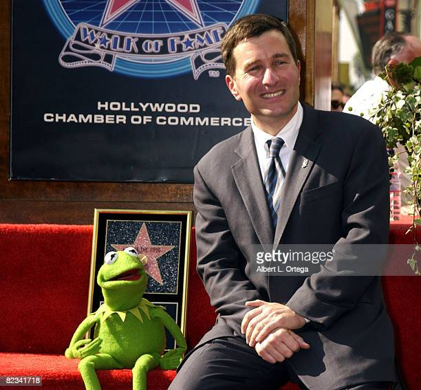 Ceo of Henson Co Charlie Rivkin and Kermit The Frog