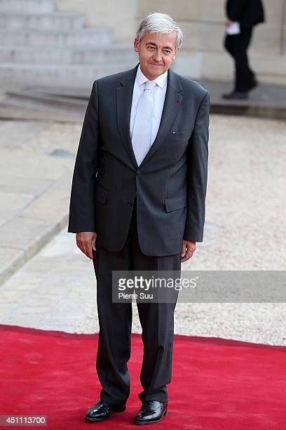 Ceo of 'RATP' Pierre Mongin attends the State Dinner In Honor Of Sheikh Tamim Bin Hamad AlThani Emir of Qatar at Elysee Palace on June 23 2014 in...