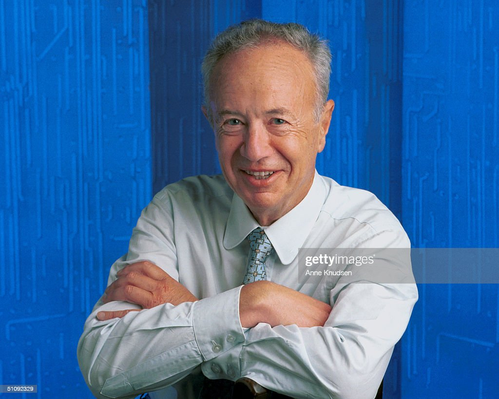 CEO Of The Intel Corporation Andy Grove Poses For A Portrait June 2000 In Palo Alto Cal : News Photo