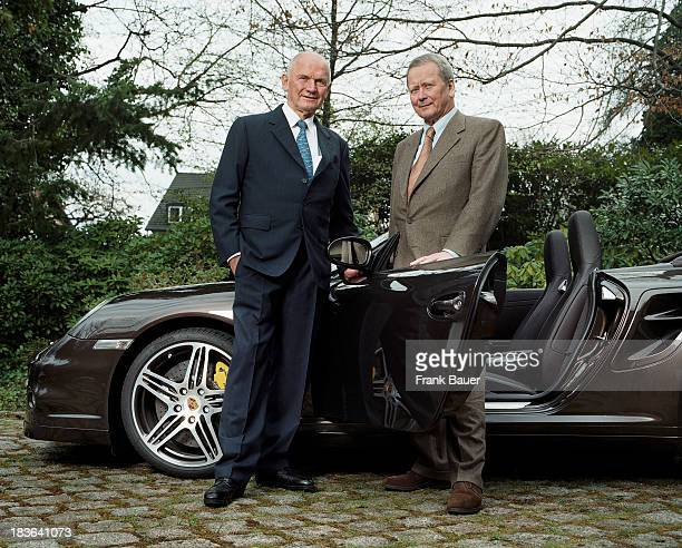Ceo of the Volkswagen Group Ferdinand Piech and Chairman of Supervisory Board of Porsche Wolfgang Porsche are photographed for Stern Magazine on...