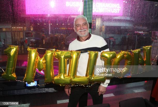 Artistic Director of The Ride Richard Humphrey poses as The Ride welcomes it's 1000th Rider on the immersive bus tour of NYC on February 25 2020 in...