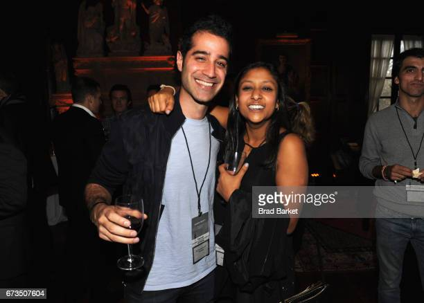 Cofounder of Periscope Kayvon Beykpour and Priyanka Jain attend the Kairos Society Global Summit Welcome Dinner At The Rockefeller Family Estate on...