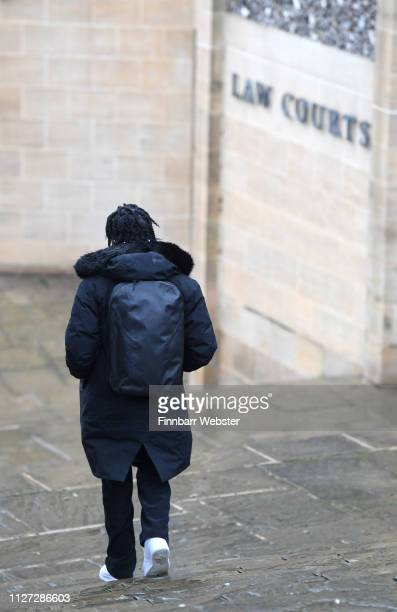 Ceon Broughton arrives at Winchester Crown Court on February 04 2019 in Winchester England Ceon Broughton is on trial for manslaughter after...