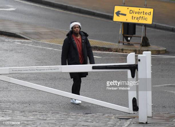 Ceon Broughton arrives at Winchester Crown Court on February 06 2019 in Winchester England Ceon Broughton is on trial for manslaughter after...