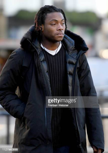 Ceon Broughton arrives at Winchester Crown Court on February 07 2019 in Winchester England Ceon Broughton is on trial for manslaughter after...