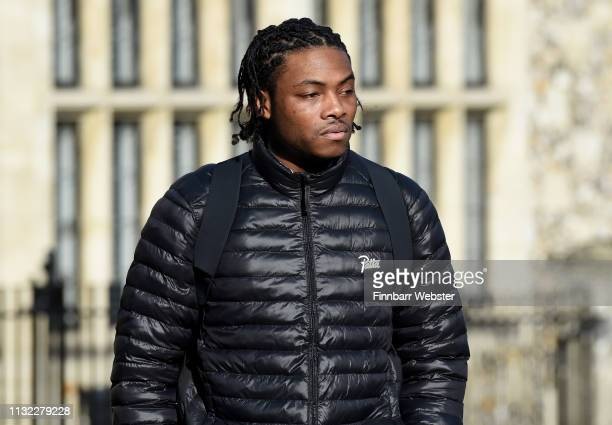 Ceon Broughton arrives at Winchester Crown Court on February 26 2019 in Winchester England Ceon Broughton is on trial for manslaughter and supplying...