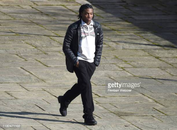 Ceon Broughton arrives at Winchester Crown Court on February 27 2019 in Winchester England