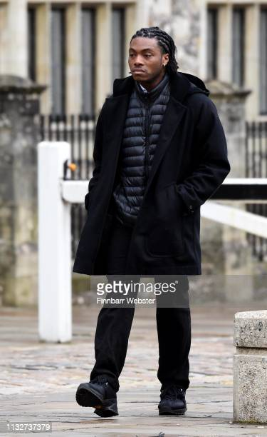 Ceon Broughton arrives at Winchester Crown Court on February 28 2019 in Winchester England Ceon Broughton is on trial for manslaughter and supplying...