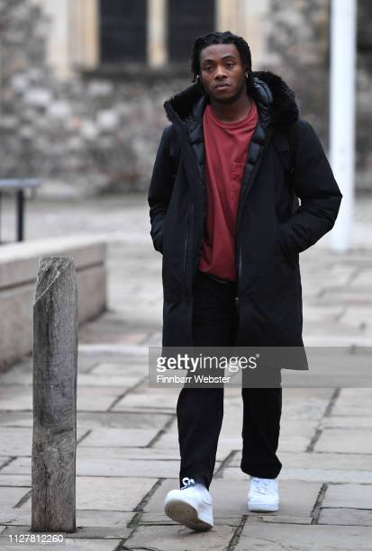 Ceon Broughton leaves Winchester Crown Court on February 06 2019 in Winchester England Ceon Broughton is on trial for manslaughter after supplying...