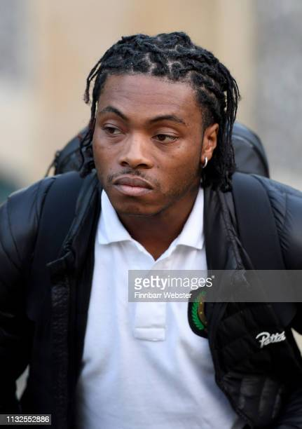 Ceon Broughton leaves Winchester Crown Court on February 27 2019 in Winchester England Ceon Broughton is on trial for manslaughter and supplying the...