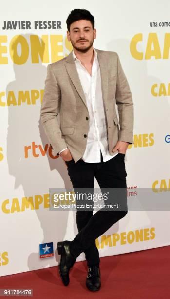 Cepeda attends 'Campeones' premiere at Kinepolis cinema on April 3 2018 in Madrid Spain