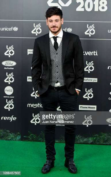 Cepeda attends during 'LOS40 Music Awards' 2018 at WiZink Center on November 2 2018 in Madrid Spain