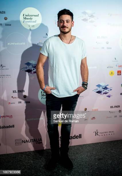 Cepeda attends Steven Tyler Concert in Madrid on July 30 2018 in Madrid Spain