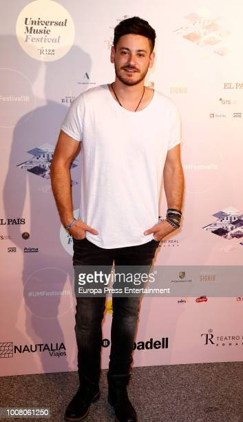 Cepeda attends the Steven Tyler concert photocall at Royal Theatre during Universal Music Festival on July 30 2018 in Madrid Spain