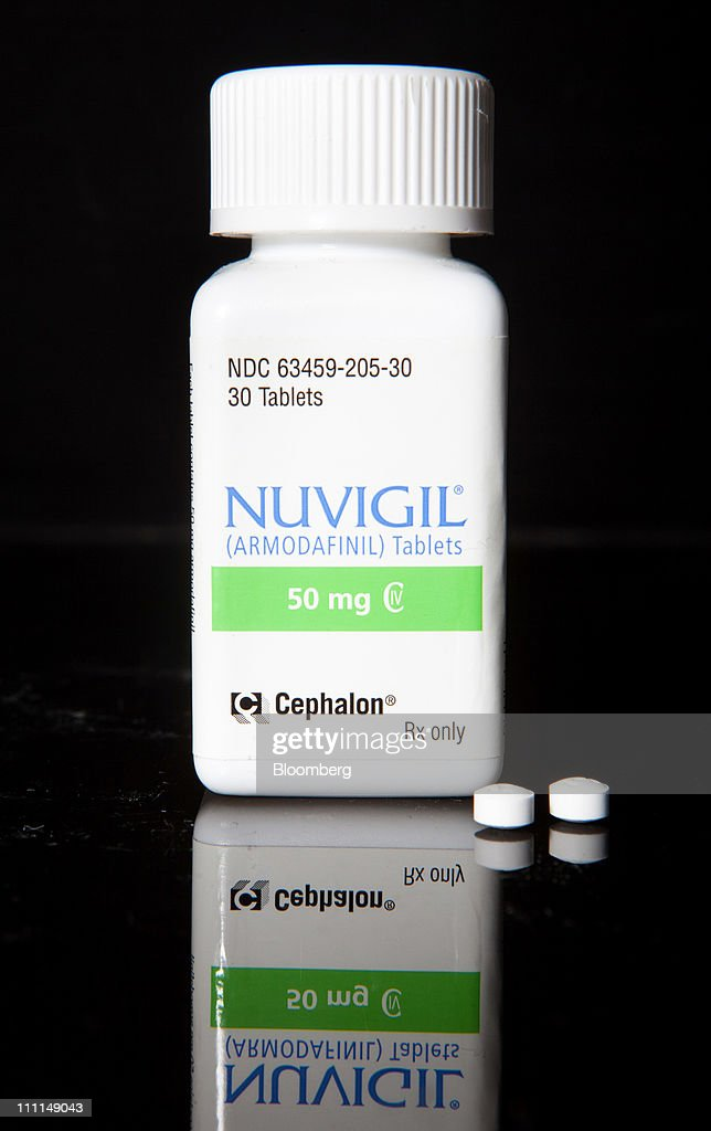 Cephalon Inc.'s Nuvigil, used to treat excessive sleepiness caused by narcolepsy, is arranged for photograph at a pharmacy in New York, U.S., on Wednesday, March 30, 2011. Cephalon Inc. surged 28 percent to $75.20 in Nasdaq trading, higher than a hostile takeover bid from Valeant, Canada's largest drugmaker. Valeant Pharmaceuticals International Inc. made its cash offer of about $5.7 billion, or $73 a share, public last night after its private approaches were rejected, the company said. Photographer: JB Reed/Bloomberg via Getty Images