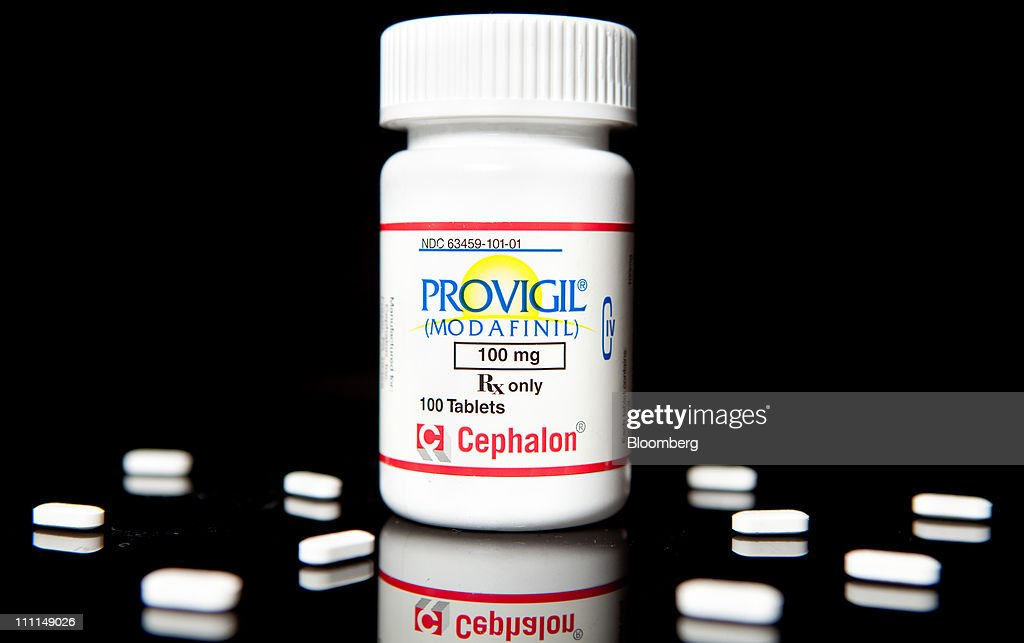 Cephalon Inc.'s Provigil, used to treat excessive sleepiness caused by narcolepsy, is arranged for photograph at a pharmacy in New York, U.S., on Wednesday, March 30, 2011. Cephalon Inc. surged 28 percent to $75.20 in Nasdaq trading, higher than a hostile takeover bid from Valeant, Canada's largest drugmaker. Valeant Pharmaceuticals International Inc. made its cash offer of about $5.7 billion, or $73 a share, public last night after its private approaches were rejected, the company said. Photographer: JB Reed/Bloomberg via Getty Images