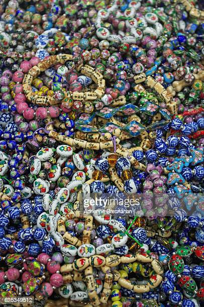 Ceramic and Cloisonne Bead Bracelets at Beijing's Hong Qiao Pearl Market