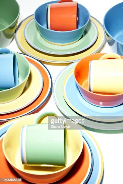 "ceramic dinnerware collection - ""shana novak"" stock pictures, royalty-free photos & images"