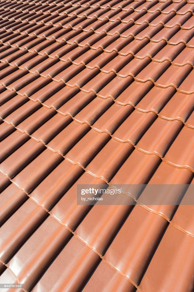 Ceramic Roof Tiles Stock Photo Getty Images