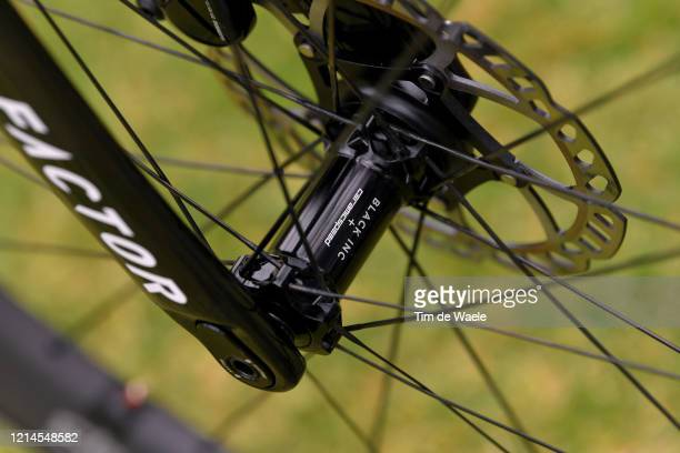 Ceramic Speed Hub / Disk Brake / Factor Fork blade / Andre Greipel of Germany and Team Israel Start-Up Nation / Factor Bike / Detail view / during...