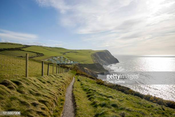 ceredigion coastline, borth, wales - beach stock pictures, royalty-free photos & images