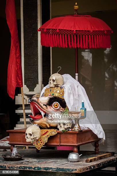 Ceremonial Garuda head with skulls