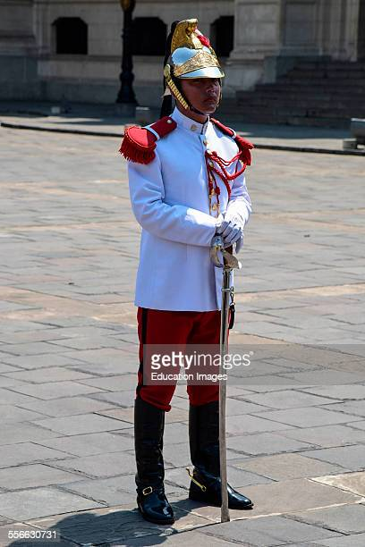 Ceremonial guard at Government Palace, Lima, Peru.