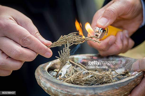 Ceremonial Herb Burning