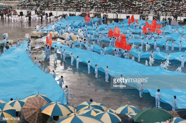 Ceremonial scenes for the he official handover of the Hong Kong to China as the 99 year lease officially expires at midnight on 1st July 1997 and...