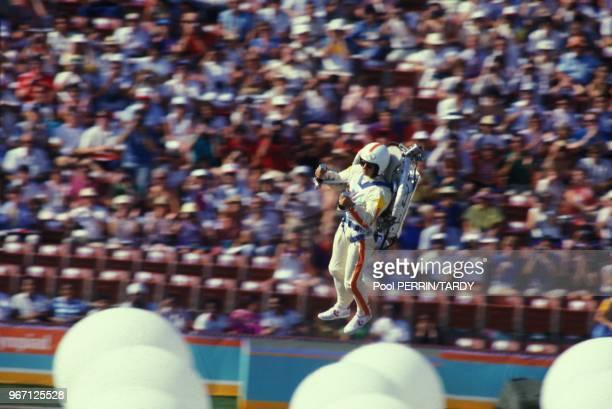Ceremonie d'ouverture des Jeux Olympiques de Los Angeles le 28 juillet 1984 a Los Angeles, Californie, Etats-Unis.