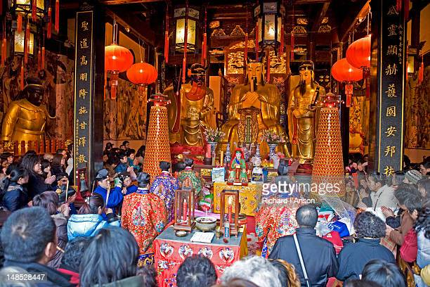 Ceremony at Temple of the Town Gods in Old Town.