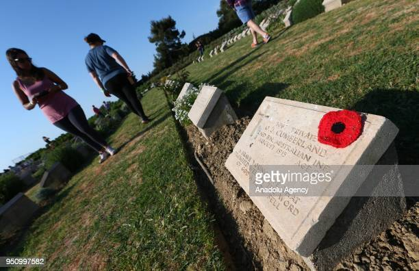 A ceremony held at Lone Pine Cemetery and Memorial in commemoration of the 103rd anniversary of Canakkale Land Battles on Gallipoli Peninsula on...